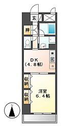 エスタシオン御器所[7階]の間取り