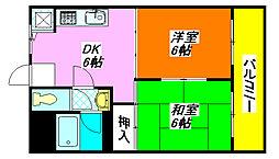 新星ビル・布施 302号室[3階]の間取り