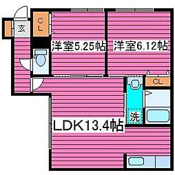 ハイドパーク512[103号室]の間取り