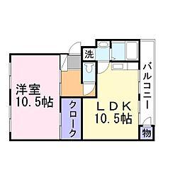 兵庫県加古郡播磨町北本荘2丁目の賃貸マンションの間取り