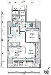 ゼクシア川崎[3号室]の間取り