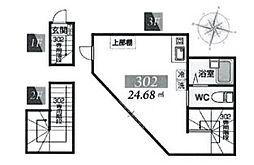 東京都江東区亀戸8丁目の賃貸アパートの間取り