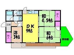 [一戸建] 愛媛県松山市天山1丁目 の賃貸【/】の間取り