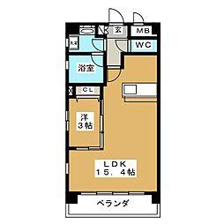 Felice Izumi[4階]の間取り