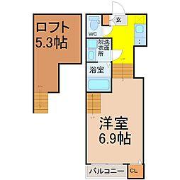 ハーモニーテラス萩原町(ハーモニーテラスハギワラチョウ)[2階]の間取り