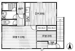 下目黒4丁目アパート[2F 号室]の間取り