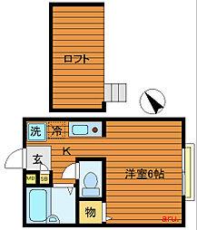 東京都三鷹市井の頭4丁目の賃貸アパートの間取り