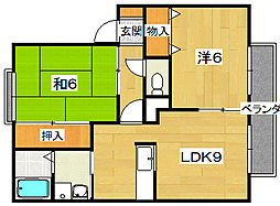 サンマリオA棟[2階]の間取り