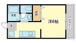 メゾンヤクシ(学生)[1階]の間取り