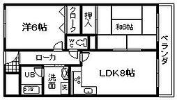 城南マンション 2[8号室]の間取り