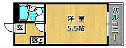 大阪府枚方市野村中町の賃貸マンションの間取り