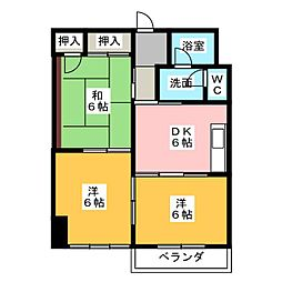 メゾンアルファ[2階]の間取り