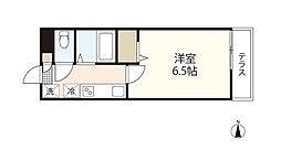 JR山陽本線 西川原駅 徒歩24分の賃貸アパート 1階1Kの間取り