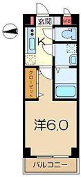 YNハイム1[3階]の間取り