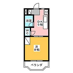 マンション金丸[1階]の間取り