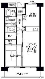 フロール山田町第2[706号室]の間取り