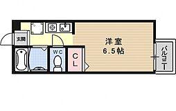 セジュール大宅[201号室号室]の間取り