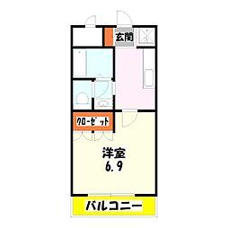 コンフォート竹ノ塚[2階]の間取り