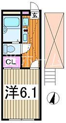 レオパレスカンタービレ[1階]の間取り