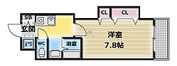 M'PLAZA布施駅前[6階]の間取り