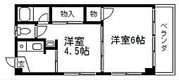 マンション中野[203号室]の間取り