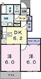 パークサイドU・K[0102号室]の間取り