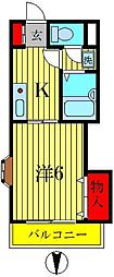 ラフィーヌ池田5番館[3階]の間取り