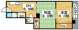 北長尾マンション[5階]の間取り