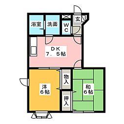 KURE N・M[1階]の間取り