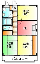サンロード紅沢A[2階]の間取り