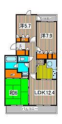 フラッツ浦和[2階]の間取り