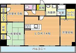 パラシオ二島(特優賃)[2階]の間取り