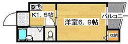 ミドウスジ堺II[3階]の間取り