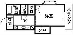 クリアネス笹尾[204号室]の間取り