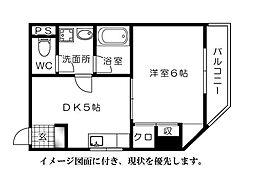 ベルファミーユ舟入[201号室]の間取り