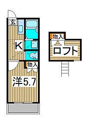 グランパルクIV[1階]の間取り