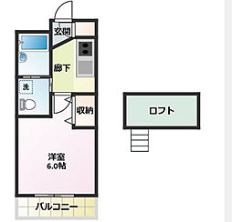 神奈川県横浜市中区竹之丸の賃貸アパートの間取り