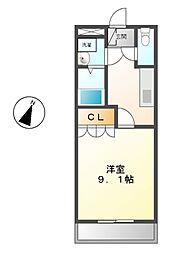 レジデンスB[2階]の間取り