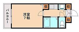 マリス南片江[3階]の間取り