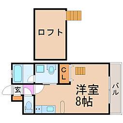 愛知県名古屋市瑞穂区川澄町2丁目の賃貸マンションの間取り