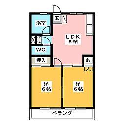 小川第2ビル[2階]の間取り