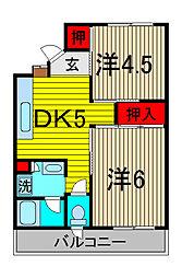 ブルーメンホーフ浦和元町[3階]の間取り
