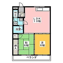 サンフラッツ富士[2階]の間取り