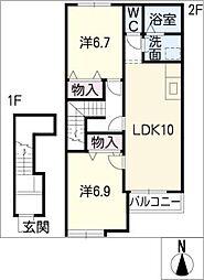 プラッツ[2階]の間取り