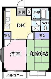コーポ篠田[2階]の間取り