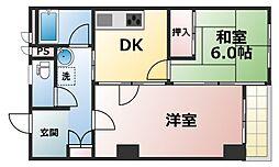 新大阪末広第一ハイツ[105号室]の間取り