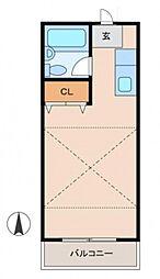 松井クラブ[2階]の間取り
