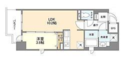 Osaka Metro堺筋線 北浜駅 徒歩2分の賃貸マンション 5階1LDKの間取り
