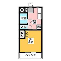 マンションリーフII[3階]の間取り
