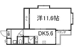京都府京都市下京区下平野町の賃貸マンションの間取り